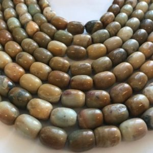 Shop Opal Bead Shapes! Natural African Blue Opal 14x10mm Barrel Gemstone Beads- -15.5 inch strand | Natural genuine other-shape Opal beads for beading and jewelry making.  #jewelry #beads #beadedjewelry #diyjewelry #jewelrymaking #beadstore #beading #affiliate #ad