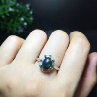 Natural Black Opal Ring, 925 Sterling Silver Ring, Oval Opal Ring, Natural Black Opal Ring, Opal Jewelry, Opal Engagement Ring | Natural genuine Gemstone jewelry. Buy handcrafted artisan wedding jewelry.  Unique handmade bridal jewelry gift ideas. #jewelry #beadedjewelry #gift #crystaljewelry #shopping #handmadejewelry #wedding #bridal #jewelry #affiliate #ad