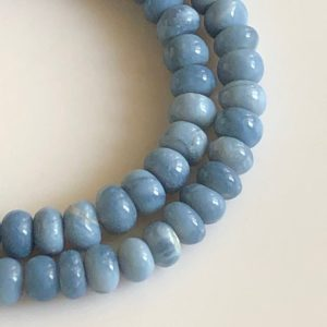 Shop Opal Rondelle Beads! 7mm Blue Opal Rondelle Beads, Natural Blue Opal Smooth Rondelle Beads, 16 Inch Strand, Gds1341   Natural genuine rondelle Opal beads for beading and jewelry making.  #jewelry #beads #beadedjewelry #diyjewelry #jewelrymaking #beadstore #beading #affiliate #ad