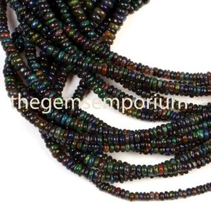 Shop Opal Rondelle Beads! Ethiopian Opal Beads,Black Opal Treated Smooth Rondelle Beads, Black Opal Plain Beads,Black Opal Smooth Beads, Black Opal Rondelle Beads   Natural genuine rondelle Opal beads for beading and jewelry making.  #jewelry #beads #beadedjewelry #diyjewelry #jewelrymaking #beadstore #beading #affiliate #ad