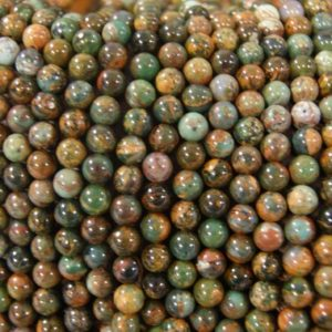 Shop Opal Round Beads! Green Opal 6mm Smooth Round Gemstone Beads -15 inch strand   Natural genuine round Opal beads for beading and jewelry making.  #jewelry #beads #beadedjewelry #diyjewelry #jewelrymaking #beadstore #beading #affiliate #ad