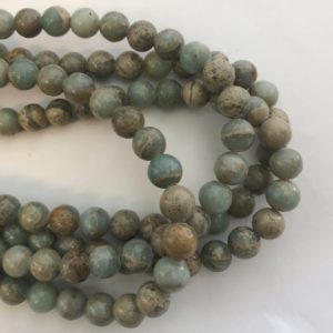 Shop Opal Round Beads! Natueal African Blue Opal 8mm Round Gemstone Bead–15.5 inch strand-   Natural genuine round Opal beads for beading and jewelry making.  #jewelry #beads #beadedjewelry #diyjewelry #jewelrymaking #beadstore #beading #affiliate #ad