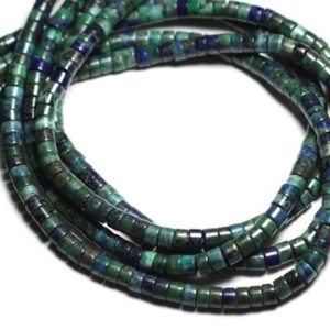 Shop Pearl Rondelle Beads! 10pc – Stone Pearls – Chrysocolle Rondelles Heishi 6×3-4mm – 7427039730761 | Natural genuine rondelle Pearl beads for beading and jewelry making.  #jewelry #beads #beadedjewelry #diyjewelry #jewelrymaking #beadstore #beading #affiliate #ad