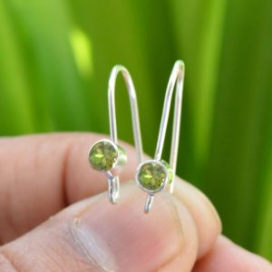 Shop Peridot Earrings! Peridot Earrings, Peridot 4×4 Mm Faceted Gemstone Earrings, 925 Silver Earrings, Tiny Earrings, Handmade Earrings, Peridot Jewelry, Earrings | Natural genuine Peridot earrings. Buy crystal jewelry, handmade handcrafted artisan jewelry for women.  Unique handmade gift ideas. #jewelry #beadedearrings #beadedjewelry #gift #shopping #handmadejewelry #fashion #style #product #earrings #affiliate #ad