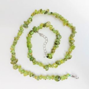 Peridot chip necklace,  crystal healing, spiritual support, compassion, good health, restful sleep,  peace, relationships | Natural genuine Gemstone necklaces. Buy crystal jewelry, handmade handcrafted artisan jewelry for women.  Unique handmade gift ideas. #jewelry #beadednecklaces #beadedjewelry #gift #shopping #handmadejewelry #fashion #style #product #necklaces #affiliate #ad