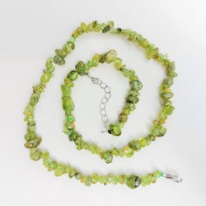 Shop Peridot Necklaces! Peridot Chip Necklace, Green Necklace, Crystal Healing, Spiritual Support, Psychic Abilities, Protection, Clarity | Natural genuine Peridot necklaces. Buy crystal jewelry, handmade handcrafted artisan jewelry for women.  Unique handmade gift ideas. #jewelry #beadednecklaces #beadedjewelry #gift #shopping #handmadejewelry #fashion #style #product #necklaces #affiliate #ad