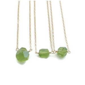 Shop Peridot Necklaces! Peridot Necklace Raw Peridot Necklace Peridot Necklace Layering Necklace August Birthstone August Birthday Minimalist Necklace | Natural genuine Peridot necklaces. Buy crystal jewelry, handmade handcrafted artisan jewelry for women.  Unique handmade gift ideas. #jewelry #beadednecklaces #beadedjewelry #gift #shopping #handmadejewelry #fashion #style #product #necklaces #affiliate #ad