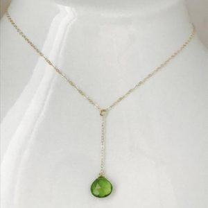 Shop Peridot Necklaces! Peridot Necklace Y Necklace Healing Necklace August Birthstone Minimalist Necklace Layering Necklace Dainty necklace | Natural genuine Peridot necklaces. Buy crystal jewelry, handmade handcrafted artisan jewelry for women.  Unique handmade gift ideas. #jewelry #beadednecklaces #beadedjewelry #gift #shopping #handmadejewelry #fashion #style #product #necklaces #affiliate #ad