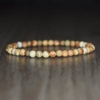 4mm Picture Jasper Bracelet, Healing Crystal Bracelet, Natural Stone Bracelet, Crystal Jewelry, Meditation Bracelet, Gemstone | Natural genuine Gemstone jewelry. Buy crystal jewelry, handmade handcrafted artisan jewelry for women.  Unique handmade gift ideas. #jewelry #beadedjewelry #beadedjewelry #gift #shopping #handmadejewelry #fashion #style #product #jewelry #affiliate #ad