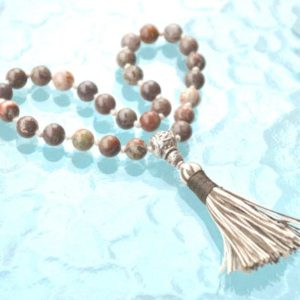 Shop Picture Jasper Necklaces! Picture Jasper Mini Pocket Travel Mala Prayer Beads 27, Semi Precious Yoga Beads, Meditation, Japa, Mantra, Spiritual Jewelry, Quit Smoking, | Natural genuine Picture Jasper necklaces. Buy crystal jewelry, handmade handcrafted artisan jewelry for women.  Unique handmade gift ideas. #jewelry #beadednecklaces #beadedjewelry #gift #shopping #handmadejewelry #fashion #style #product #necklaces #affiliate #ad