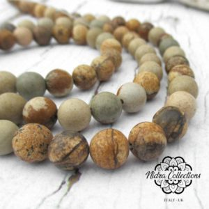 Shop Picture Jasper Necklaces! Picture Jasper Round Gemstone Beads, High Quality Grade A Stone 8mm 6mm, Diy Jewelry Making, Mala Supplies | Natural genuine Picture Jasper necklaces. Buy crystal jewelry, handmade handcrafted artisan jewelry for women.  Unique handmade gift ideas. #jewelry #beadednecklaces #beadedjewelry #gift #shopping #handmadejewelry #fashion #style #product #necklaces #affiliate #ad