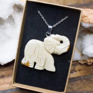 Shop Picture Jasper Pendants! Picture Jasper Elephant Necklace Polished Jewellery Silver Crystal Healing Elephant Pendant Birthday Gift July Cancer Leo Zodiac | Natural genuine Picture Jasper pendants. Buy crystal jewelry, handmade handcrafted artisan jewelry for women.  Unique handmade gift ideas. #jewelry #beadedpendants #beadedjewelry #gift #shopping #handmadejewelry #fashion #style #product #pendants #affiliate #ad