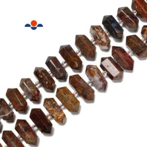 Shop Pietersite Beads! Pietersite Graduated Center Drill Faceted Points Beads Size 13-30mm 15.5'' Str | Natural genuine faceted Pietersite beads for beading and jewelry making.  #jewelry #beads #beadedjewelry #diyjewelry #jewelrymaking #beadstore #beading #affiliate #ad
