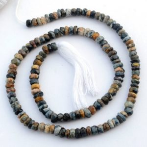 Shop Pietersite Beads! Pietersite Faceted Shaded Rondelle Beads, 4.5mm to 5mm Pietersite Multi Color Rondelles Gemstone Beads, Sold As 13 Inch Strand, GDS2111 | Natural genuine faceted Pietersite beads for beading and jewelry making.  #jewelry #beads #beadedjewelry #diyjewelry #jewelrymaking #beadstore #beading #affiliate #ad