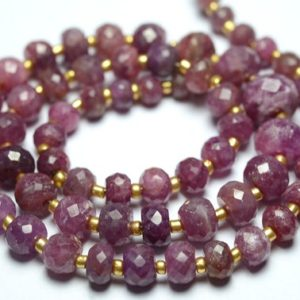 Shop Pink Sapphire Beads! 13 Inches Strand Natural Pink Sapphire Rondelle Beads 4mm to 8.5mm Faceted Gemstone Beads Rare Sapphire Stone Precious Rondelles No1133   Natural genuine faceted Pink Sapphire beads for beading and jewelry making.  #jewelry #beads #beadedjewelry #diyjewelry #jewelrymaking #beadstore #beading #affiliate #ad