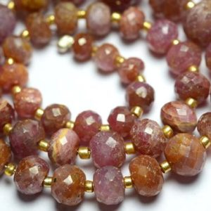 Shop Pink Sapphire Beads! 14.5 inch Strand Natural Pink Sapphire Rondelle Beads 4.5mm to 12.8mm Faceted Gemstone Beads Superb Sapphire Beads Precious Rondelles No1131   Natural genuine faceted Pink Sapphire beads for beading and jewelry making.  #jewelry #beads #beadedjewelry #diyjewelry #jewelrymaking #beadstore #beading #affiliate #ad
