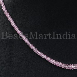 Shop Pink Sapphire Necklaces! Pink Sapphire Faceted Rondelle Beads Necklace, Pink Sapphire Necklace, Pink Sapphire Rondelle Beads, Pink Sapphire Beads, Pink Sapphire   Natural genuine Pink Sapphire necklaces. Buy crystal jewelry, handmade handcrafted artisan jewelry for women.  Unique handmade gift ideas. #jewelry #beadednecklaces #beadedjewelry #gift #shopping #handmadejewelry #fashion #style #product #necklaces #affiliate #ad