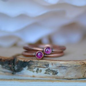 Shop Pink Tourmaline Rings! Pink Tourmaline Ring, Raw Gemstone Ring, Electroformed Ring, Gift For Her, Birthstone Ring, Midi Ring, Boho Ring, Gemstone Stacking Ring   Natural genuine Pink Tourmaline rings, simple unique handcrafted gemstone rings. #rings #jewelry #shopping #gift #handmade #fashion #style #affiliate #ad