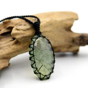 Shop Prehnite Pendants! Prehnite Crystal Pendant Necklace For Men, Spiritual Jewelry, Small Thank You Gift for Him   Natural genuine Prehnite pendants. Buy handcrafted artisan men's jewelry, gifts for men.  Unique handmade mens fashion accessories. #jewelry #beadedpendants #beadedjewelry #shopping #gift #handmadejewelry #pendants #affiliate #ad