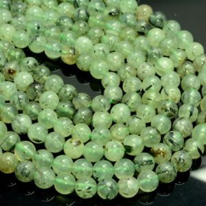 FREE USA Ship 8mm Prehnite Gemstone Grade Aa Rutilated Round Loose Beads 15 inch Full Strand LOT 1,2,6 and 12 (10233578-38)   Natural genuine round Prehnite beads for beading and jewelry making.  #jewelry #beads #beadedjewelry #diyjewelry #jewelrymaking #beadstore #beading #affiliate #ad