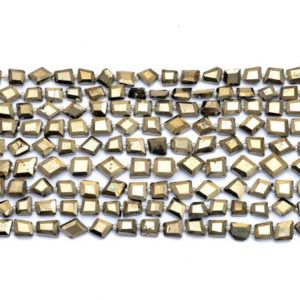 """Shop Pyrite Chip & Nugget Beads! Natural Pyrite Gemstone 8mm-10mm Faceted Tumbled Nuggets 