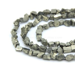 Shop Pyrite Chip & Nugget Beads! Raw Pyrite Tumble Beads, Gold Pyrite Nugget Beads, Gold Gemstone Nugget Beads, Pyrite Rough Drill, Raw Crystal Pyrite Pendant Charm | Natural genuine chip Pyrite beads for beading and jewelry making.  #jewelry #beads #beadedjewelry #diyjewelry #jewelrymaking #beadstore #beading #affiliate #ad