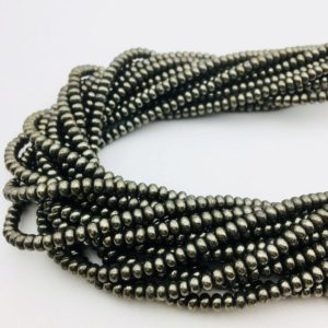 """Shop Pyrite Rondelle Beads! Pyrite Smooth Rondelle Beads 2.5x4mm 15.5"""" Strand   Natural genuine rondelle Pyrite beads for beading and jewelry making.  #jewelry #beads #beadedjewelry #diyjewelry #jewelrymaking #beadstore #beading #affiliate #ad"""
