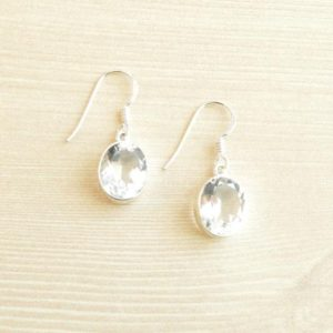 Shop Quartz Crystal Earrings! Timeless Quartz Dangle Earrings // Quartz Jewelry // Sterling Silver // Village Silversmith   Natural genuine Quartz earrings. Buy crystal jewelry, handmade handcrafted artisan jewelry for women.  Unique handmade gift ideas. #jewelry #beadedearrings #beadedjewelry #gift #shopping #handmadejewelry #fashion #style #product #earrings #affiliate #ad