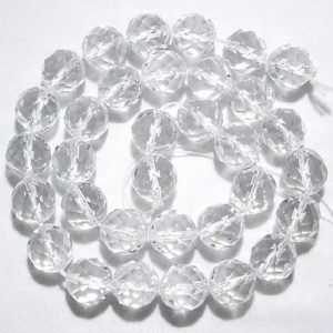Shop Quartz Crystal Beads! 5,6,8,10,12mm Clear Quartz Round Faceted Natural Gemstone Beads –15 inch strand | Natural genuine beads Quartz beads for beading and jewelry making.  #jewelry #beads #beadedjewelry #diyjewelry #jewelrymaking #beadstore #beading #affiliate #ad