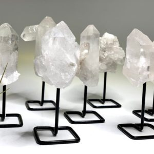 Clear Quartz Cluster on Stand | Natural genuine stones & crystals in various shapes & sizes. Buy raw cut, tumbled, or polished gemstones for making jewelry or crystal healing energy vibration raising reiki stones. #crystals #gemstones #crystalhealing #crystalsandgemstones #energyhealing #affiliate #ad