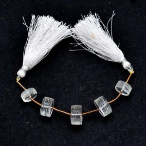 Shop Quartz Crystal Rondelle Beads! AAA+ Clear Crystal Heishi Carving Beads   11x5mm-13x7mm Tyre Rondelle   Natural Clear Crystal Quartz Semi Precious Gemstone Carving Beads   Natural genuine rondelle Quartz beads for beading and jewelry making.  #jewelry #beads #beadedjewelry #diyjewelry #jewelrymaking #beadstore #beading #affiliate #ad