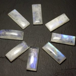 Shop Rainbow Moonstone Cabochons! 1pc – Cabochon stone – 30x12mm Rectangle Rainbow Moonstone – 8741140020108   Natural genuine stones & crystals in various shapes & sizes. Buy raw cut, tumbled, or polished gemstones for making jewelry or crystal healing energy vibration raising reiki stones. #crystals #gemstones #crystalhealing #crystalsandgemstones #energyhealing #affiliate #ad