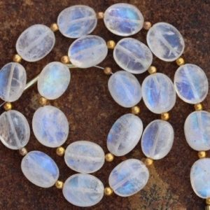 Shop Rainbow Moonstone Bead Shapes! Natural, 20 piece smooth Rainbow white Moonstone OVAL gemstone beads 7×9–8×10 mm approx..Blue flash, 100% natural rainbow moonstone stone   Natural genuine other-shape Rainbow Moonstone beads for beading and jewelry making.  #jewelry #beads #beadedjewelry #diyjewelry #jewelrymaking #beadstore #beading #affiliate #ad