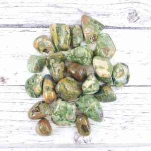 Shop Rainforest Jasper Stones & Crystals! Rhyolite Tumbled Stones, Reiki Infused Rainforest Jasper Wire Wrapping Healing Crystals | Natural genuine stones & crystals in various shapes & sizes. Buy raw cut, tumbled, or polished gemstones for making jewelry or crystal healing energy vibration raising reiki stones. #crystals #gemstones #crystalhealing #crystalsandgemstones #energyhealing #affiliate #ad