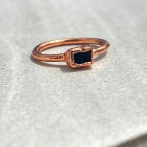 Shop Black Tourmaline Rings! Raw Black Tourmaline Ring- Raw Gemstone Ring- Gifts For Her-gift For Him- Ready To Ship! | Natural genuine Black Tourmaline rings, simple unique handcrafted gemstone rings. #rings #jewelry #shopping #gift #handmade #fashion #style #affiliate #ad