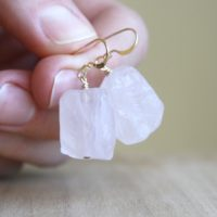 Raw Rose Quartz Earrings Gold . Raw Crystal Earrings Dangle . Healing Crystal Earrings For Love | Natural genuine Gemstone jewelry. Buy crystal jewelry, handmade handcrafted artisan jewelry for women.  Unique handmade gift ideas. #jewelry #beadedjewelry #beadedjewelry #gift #shopping #handmadejewelry #fashion #style #product #jewelry #affiliate #ad