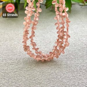 Shop Rhodochrosite Bead Shapes! Natural Rhodochrosite 5-6mm Smooth Pear Shape Gemstone Beads Lot / Approx 257 Pieces on 3 Strands of 8 Inch Length / JBC-ET-158123 | Natural genuine other-shape Rhodochrosite beads for beading and jewelry making.  #jewelry #beads #beadedjewelry #diyjewelry #jewelrymaking #beadstore #beading #affiliate #ad