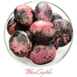 Shop Rhodonite Shapes! 1 XL RHODONITE Pebble Polished Grade A Palm Stone for Compassion Forgiveness #RP70   Natural genuine stones & crystals in various shapes & sizes. Buy raw cut, tumbled, or polished gemstones for making jewelry or crystal healing energy vibration raising reiki stones. #crystals #gemstones #crystalhealing #crystalsandgemstones #energyhealing #affiliate #ad