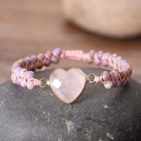 Healing Natural Stone Rose Quartz Bracelet-spiritual Calming Reiki Mental Health Balance Meditation Inner Peace Anxiety Relief Bracelet | Natural genuine Gemstone jewelry. Buy crystal jewelry, handmade handcrafted artisan jewelry for women.  Unique handmade gift ideas. #jewelry #beadedjewelry #beadedjewelry #gift #shopping #handmadejewelry #fashion #style #product #jewelry #affiliate #ad