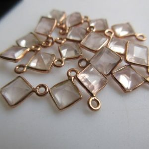 Shop Rose Quartz Cabochons! 10 Pcs Kite Shaped Rose Quartz Gemstone Cabochon Connectors, 925 Sterling Silver Single / double Bail Bezel Gold / Rose Gold Connectors, Gds893   Natural genuine stones & crystals in various shapes & sizes. Buy raw cut, tumbled, or polished gemstones for making jewelry or crystal healing energy vibration raising reiki stones. #crystals #gemstones #crystalhealing #crystalsandgemstones #energyhealing #affiliate #ad
