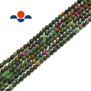 African Ruby Faceted Round Beads 2mm 3mm 4mm 15.5'' Strand   Natural genuine beads Array beads for beading and jewelry making.  #jewelry #beads #beadedjewelry #diyjewelry #jewelrymaking #beadstore #beading #affiliate #ad