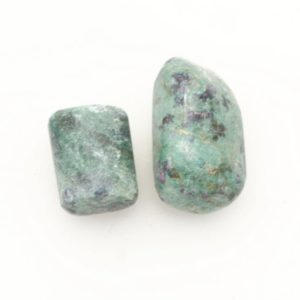 Shop Tumbled Ruby Crystals & Pocket Stones! Ruby In Fuschite Polished Tumbled Stone Crystal, Choose Your Piece, Ruby In Green Muscovite | Natural genuine stones & crystals in various shapes & sizes. Buy raw cut, tumbled, or polished gemstones for making jewelry or crystal healing energy vibration raising reiki stones. #crystals #gemstones #crystalhealing #crystalsandgemstones #energyhealing #affiliate #ad