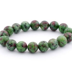 Shop Ruby Zoisite Bracelets! Anyolite Green Ruby Zoisite Fuchsite Beaded Healing Bracelet July birthstone ruby to enhance the connection between your Brain & your heart   Natural genuine Ruby Zoisite bracelets. Buy crystal jewelry, handmade handcrafted artisan jewelry for women.  Unique handmade gift ideas. #jewelry #beadedbracelets #beadedjewelry #gift #shopping #handmadejewelry #fashion #style #product #bracelets #affiliate #ad