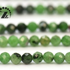 """Shop Ruby Zoisite Faceted Beads! Ruby Zoisite faceted round beads,Mini beads,Tassel beads,2mm 3mm for choice,15"""" full strand 