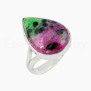Shop Ruby Zoisite Rings! Handmade Ruby Zoisite Ring, Women's Jewelry, 925 Sterling Silver, Pear Gemstone , Statement Ring, Split Band Ring, Cabochon Gemstone, Sale | Natural genuine Ruby Zoisite rings, simple unique handcrafted gemstone rings. #rings #jewelry #shopping #gift #handmade #fashion #style #affiliate #ad
