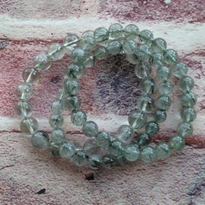 Shop Rutilated Quartz Bracelets! Gorgeous Smooth Green Rutilated Quartz Bracelet AAA Grade | Natural genuine Rutilated Quartz bracelets. Buy crystal jewelry, handmade handcrafted artisan jewelry for women.  Unique handmade gift ideas. #jewelry #beadedbracelets #beadedjewelry #gift #shopping #handmadejewelry #fashion #style #product #bracelets #affiliate #ad