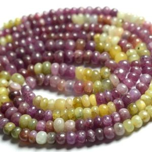 Shop Sapphire Rondelle Beads! 14 Inches Strand Natural Multi Sapphire Rondelle Beads 3mm to 4.5mm Smooth Rondelles Gemstone Beads Superb Sapphire Stone Beads No4610 | Natural genuine rondelle Sapphire beads for beading and jewelry making.  #jewelry #beads #beadedjewelry #diyjewelry #jewelrymaking #beadstore #beading #affiliate #ad