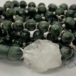 Shop Seraphinite Necklaces! AAA grade Seraphinite Mala Necklace, Meaningful Jewelry,  Stone Healing Crystal for self care, Him and Her, Spiritual gift, Clairvoyant ston | Natural genuine Seraphinite necklaces. Buy crystal jewelry, handmade handcrafted artisan jewelry for women.  Unique handmade gift ideas. #jewelry #beadednecklaces #beadedjewelry #gift #shopping #handmadejewelry #fashion #style #product #necklaces #affiliate #ad