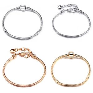 Shop Charm Bracelet Blanks! Silver bracelet, gold bracelet charm bracelet, Pandora style gifts for her | Shop jewelry making and beading supplies, tools & findings for DIY jewelry making and crafts. #jewelrymaking #diyjewelry #jewelrycrafts #jewelrysupplies #beading #affiliate #ad