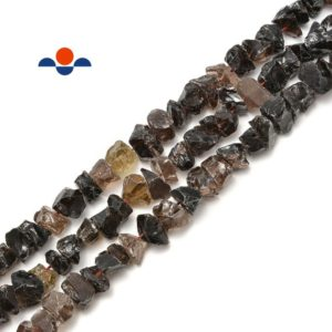 """Shop Smoky Quartz Beads! Smoky Quartz Rough Nugget Chunks Center Drill Beads Approx 8x16mm 15.5"""" Strand   Natural genuine beads Smoky Quartz beads for beading and jewelry making.  #jewelry #beads #beadedjewelry #diyjewelry #jewelrymaking #beadstore #beading #affiliate #ad"""